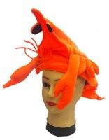 Naranja camarones langosta mar animal sombrero traje niños adultos sombrero máscara Cap fiesta Regalo de Cumpleaños Carnaval de Halloween