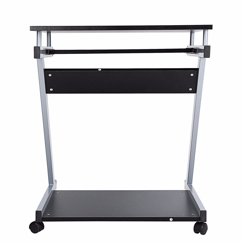 adjustable table for cart bed computer office hospital over desk natural stand rolling stands height laptop new
