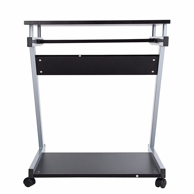 Computer Laptop Desk Table Keyboard Shelf Stand Rolling Home Office Study Z Style