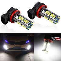 2Pcs H11 LED Car Lights H8 HB4 9006 HB3 9005 SMD Auto Fog Lamp Bulbs 1800LM 6000K White Canbus Driving Running Led Light 12V 24V