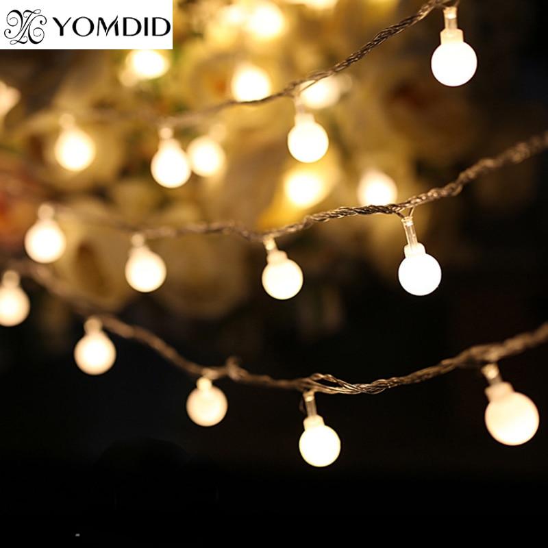 Us 5 39 29 Off 4m Christmas Led Light Ball Globe Lights Festival For Wedding Garden Holiday Tree Pendant Decoration In