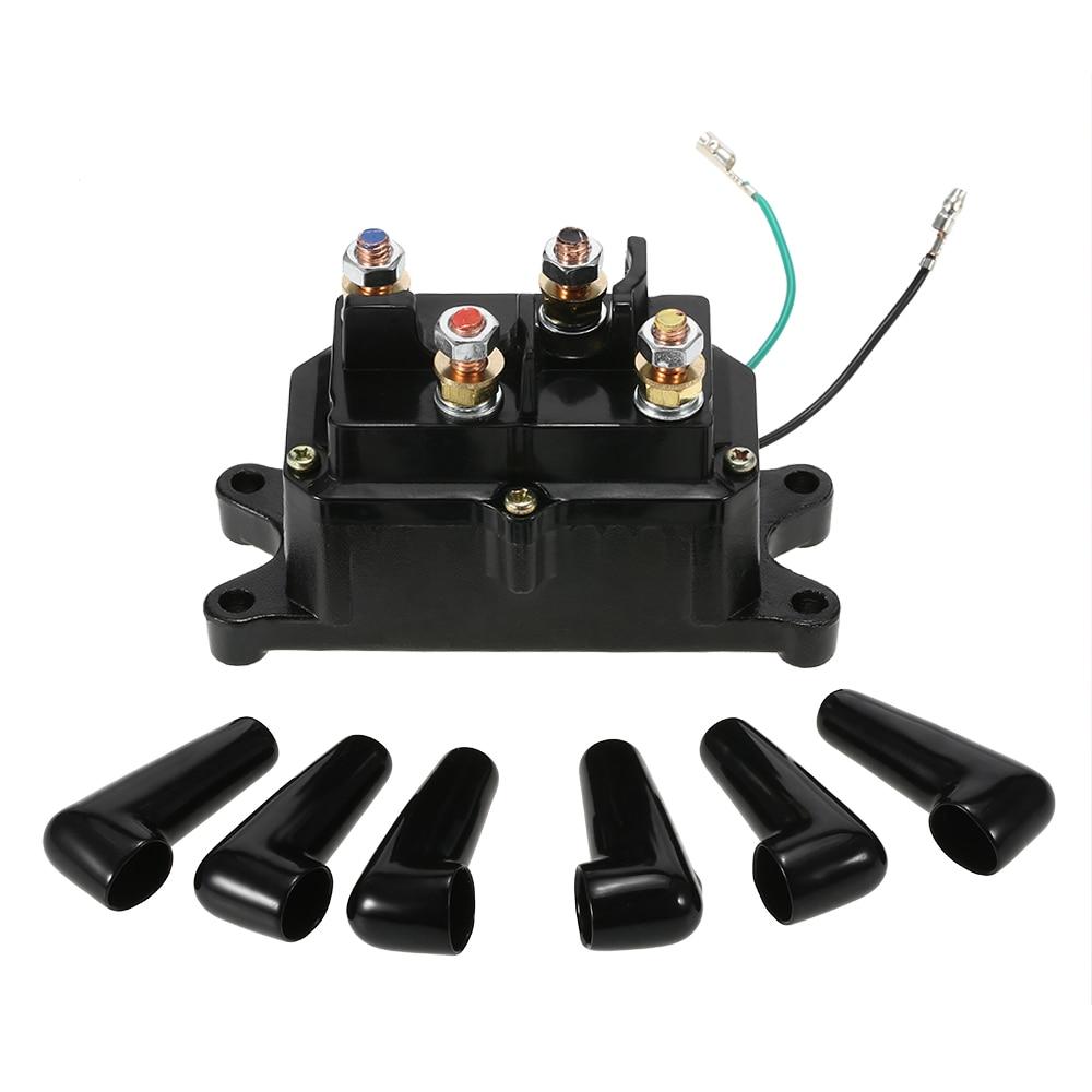 medium resolution of 12v solenoid relay contactor winch rocker switch thumb for atv utv universal kit practical 1 set