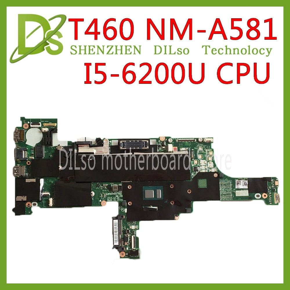 K50IJ NM-A581 Laptop motherboard for Lenovo ThinkPad T460 laptop motherboard 01AW344 BT462 NM-A581 I5-6200U DDR3L 100% originalK50IJ NM-A581 Laptop motherboard for Lenovo ThinkPad T460 laptop motherboard 01AW344 BT462 NM-A581 I5-6200U DDR3L 100% original