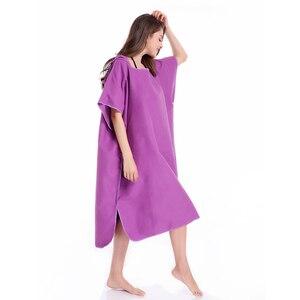 Image 2 - Zipsoft Poncho de microfibra con capucha para nadar, bata de secado rápido, Poncho para Surf en la playa, traje de neopreno ligero compacto con capucha