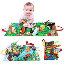 Bez kitap bebek yumuşak etkinlik katlanır kumaş hayvan kuyrukları kitaplar bebek erken eğitici oyuncaklar çocuklar için 0 12 ay 40% kapalı