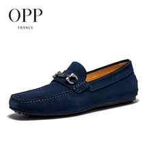 OPP 2017 Men's Flats Casual Comfortable Driving Shoes Men's Leather Loafers For Men Shoes moccasins Summer Mens Footwear