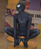 Black Amazing SpiderMan 2 Costume Black Spider Man Morph Full body Suit TASM 2 Venom Spidey Suit