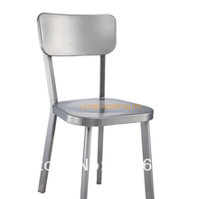 Stainless steel chair,fully assembled,brushed finish,quick shipment