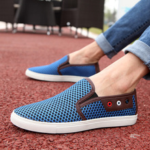 2017 Summer Breathable Mesh Shoes Mens Casual Shoes Slip on New Fashion Summer Shoes Man Soft Comfortable Flat Big Size 38-49