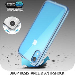 Image 5 - SUPCASE For iPhone XR 6.1 inch Case UB Electro Full Body Clear Plated Glitter Slim Hybrid Cover with Built in Screen Protector