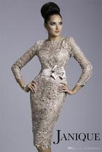 2015 Lace Mother of the Bride Dresses Sheath Silver Ivory Champagne Short Formal Gowns Knee Length Evening Party Dress