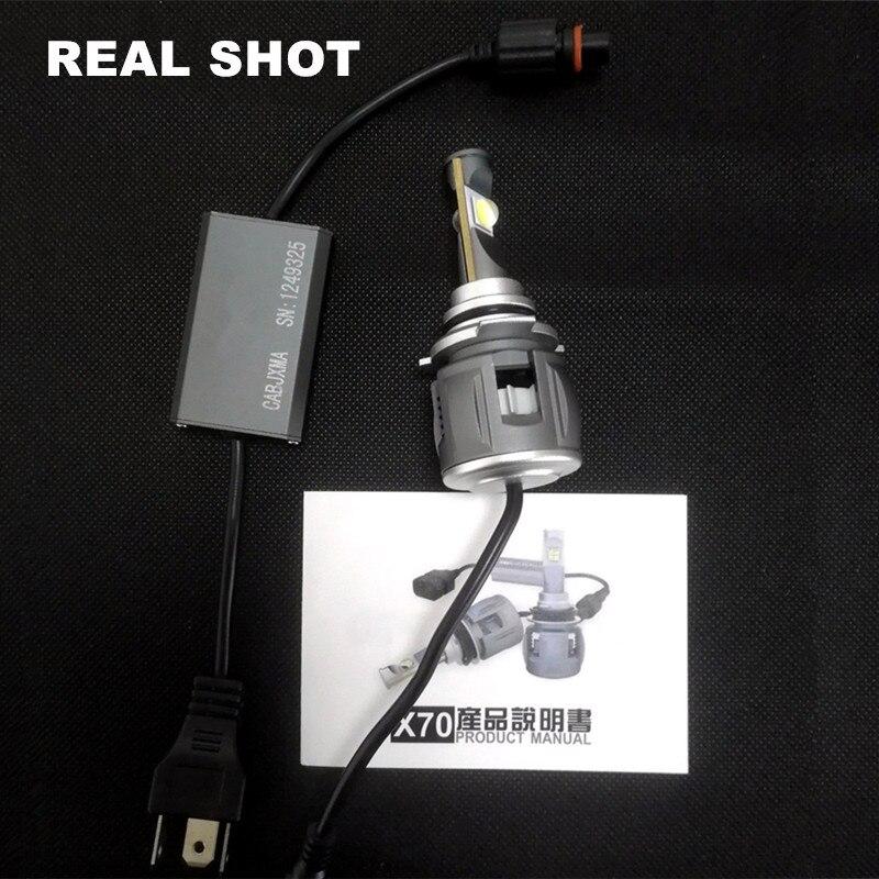 Xenplus 2pcs Auto d2s XHP70 Chip LED Koplamp Lamp h4 H7 H8 H9 H11 H13 hb3 9004 9005 9006 9007 Super Heldere meest krachtige 55W - 6