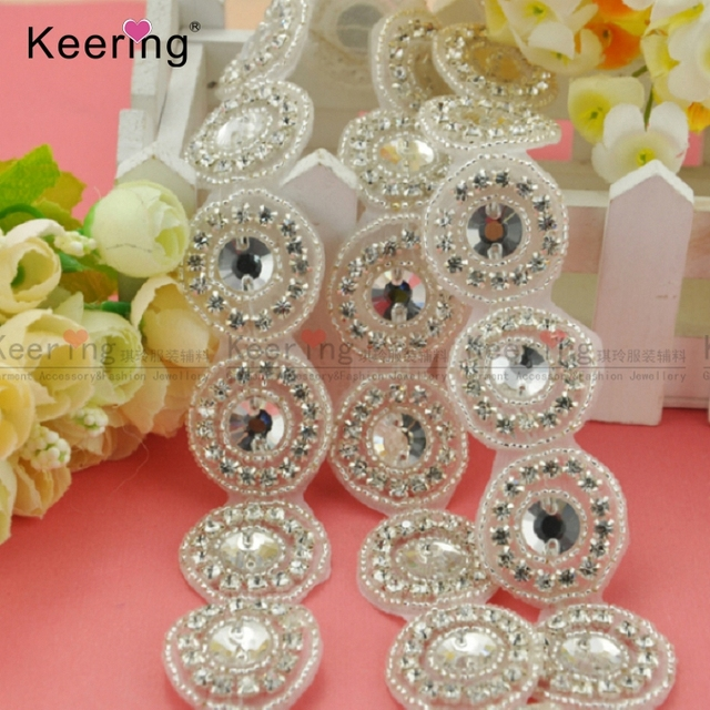 Hot Sale Round Shape Beaded Trimmings Strass With Stones