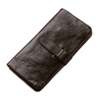 Brand New Genuine leather Wallet Men's Clutch Wallets Long Bifold Currency Dollar Coin Purse Credit ID Card Holder Purses