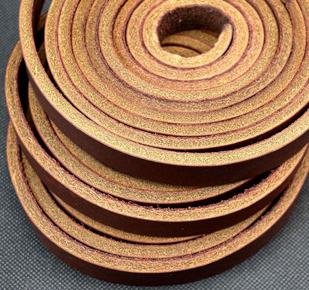 Passion Junetree peau de vache en cuir de vachette épaisse bande en cuir véritable largeur 25mm, longueur: 200 cm