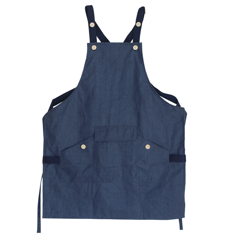linen Waterproof Apron Cooking Kitchen Apron For Woman Men Chef Cafe Shop BBQ Aprons with pocket Baking Restaurant Pinafore bib in Aprons from Home Garden