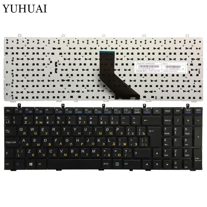 Russian RU Keyboard For DNS Clevo W350 W350ST W350SK W370 W370ST W670 W350SKQ MP-12A36SU-4301W 6-80-W37S0-281-1 Keyboard