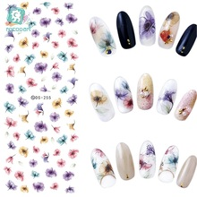 DS255 Nails Stickers Flowers