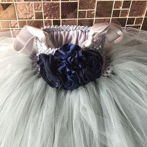 Image 4 - Çiçek kız Tutu elbise ayak bileği uzunlukta prenses tül çocuklar Tutu kızlar için elbiseler düğün parti elbise çocuk Pageant balo elbisesi