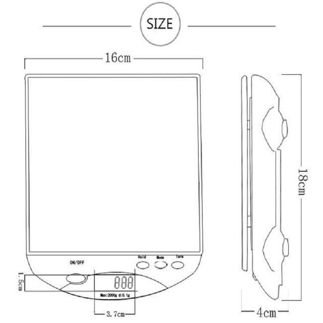 6000g / 1g Digital Scale Kitchen