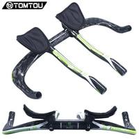 TOMTOU Full Carbon Rest Bar TT Handlebar Set Road MTB Bicycle Parts 31 8 380 400