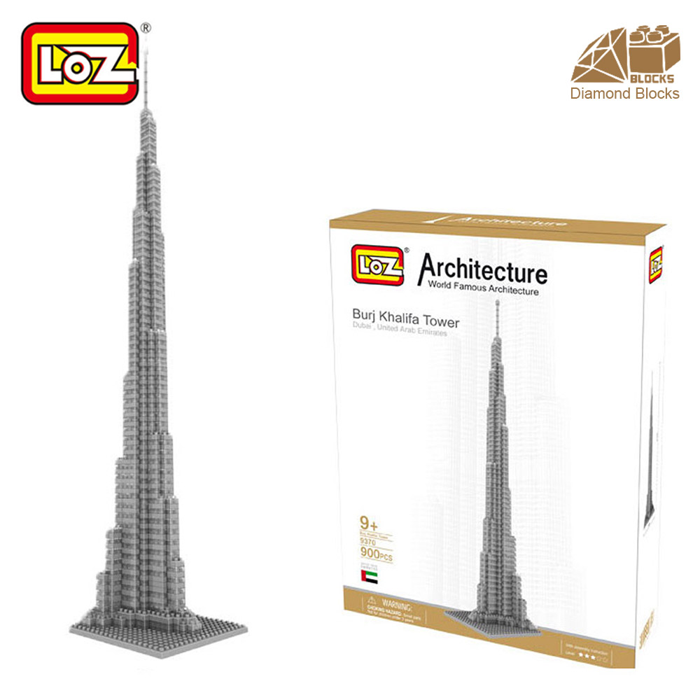 Mr.Froger LOZ Burj Khalifa Tower High Diamond Block World Famous Architecture Series Toy Bricks Building Blocks House Model City loz diamond blocks assembly display case plastic large display box table for figures nano pixels micro blocks bricks toy 9940