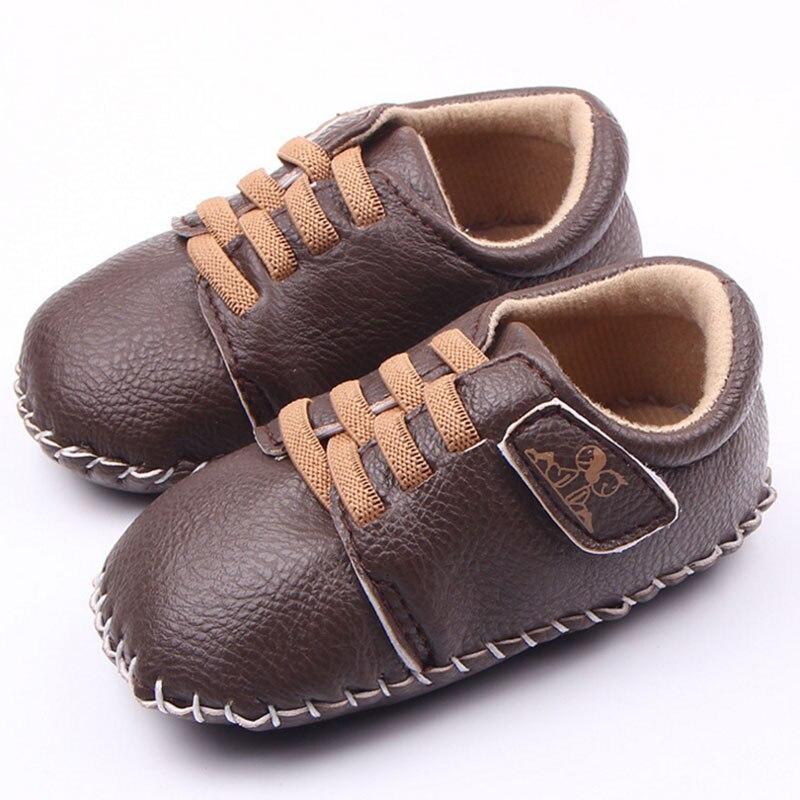 Baby boy girl dobrze PU ręcznie szycie miękkie dno buty dla dzieci - Buty dziecięce - Zdjęcie 3
