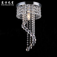 Mini Spiral LED Crystal Pendant Lamp Crystal Hanging Light Bar Lighting Decoration