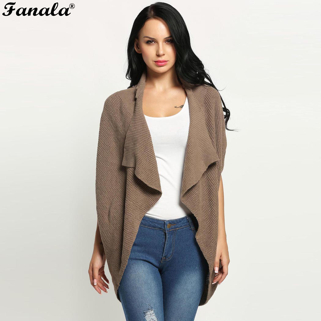 FANALA Long Sweaters Cardigan Women New Autumn Solid Batwing ...