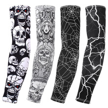 Ice silk sunscreen sleeve outdoor riding flower arm tattoo men and women sleeves fishing sleeve-1