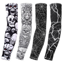 Ice silk sunscreen sleeve outdoor riding flower arm tattoo tattoo men and women arm sleeves fishing sleeve-1