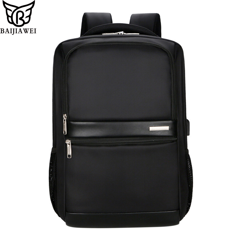 e3110cd89a01 US $21.99 50% OFF BAIJIAWEI New Multi function Business Laptop Backpack  Men's USB Charging+Headphone jack Bags Travel Casual Student Bag-in  Backpacks ...
