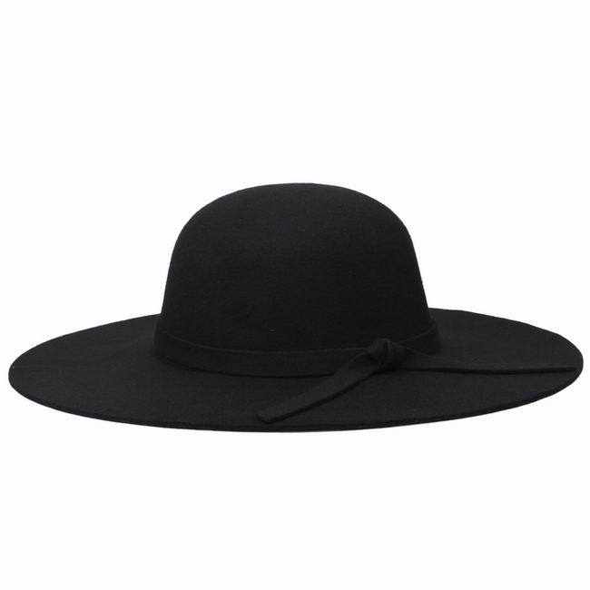 e40c22e6353 Hot Sale Woman Vintage Soft Top Cap Wide Brim Hats Wool Felt Bowler Fedora  Hat Tea Party Spring Sun Hats Caps Free Shipping-in Fedoras from Apparel ...