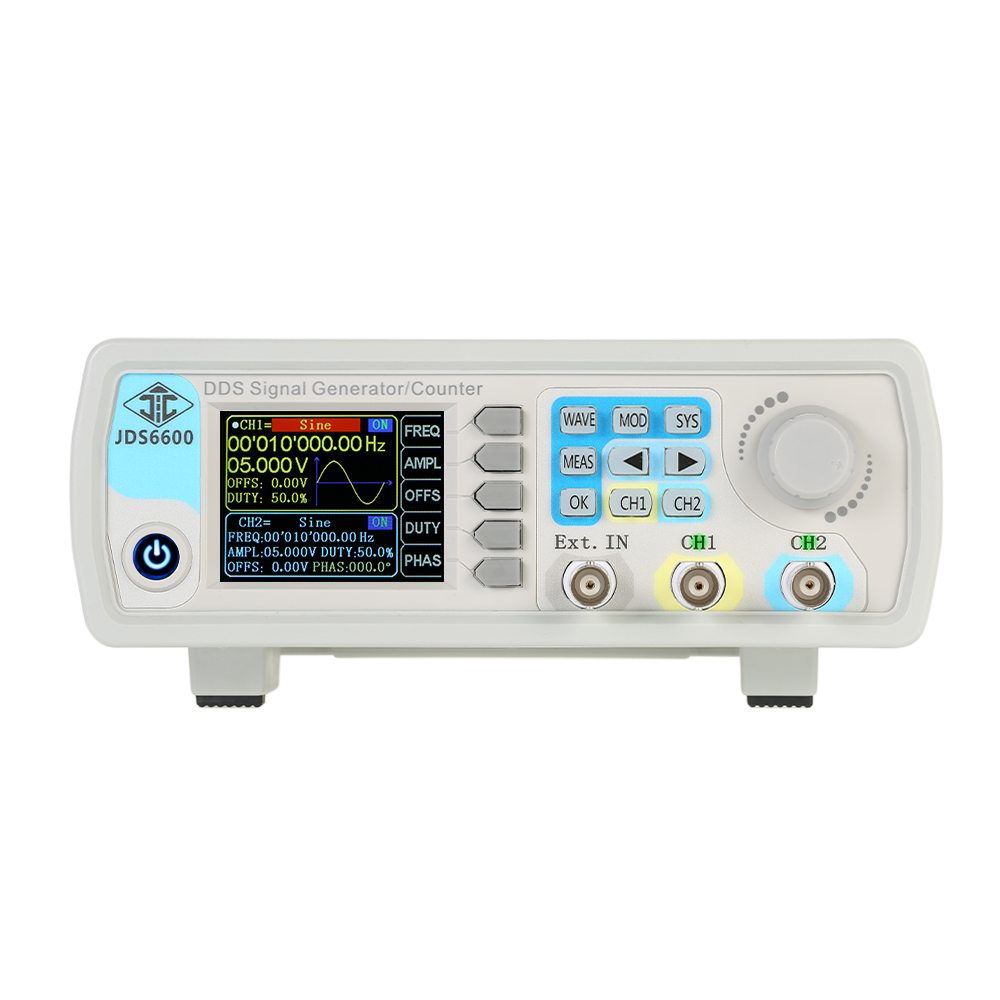 Digital Dual-channel DDS Function Signal Generator frequency generator Meter Arbitrary Waveform Pulse 1Hz-100MHz 200MSa/s 40MHz hantek6104bd oscilloscope 4 channels 6104bd arbitrary waveform generator 100mhz bandwidth powered by usb2 0 interface