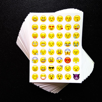 One Sheet 3D Stickers Hot Popular Sticker Emoji Smile Face Stickers For Notebook Message Twitter Toy Large Viny Instagram
