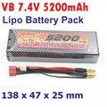 Оригинал VB 2 S 7.4 В 5200 мАч Батареи Липо 30C Макс Съемки 60C для RC Гоночный Автомобиль Грузовик Литий-Полимерные Батареи HPI ОСЕВОЙ Батареи