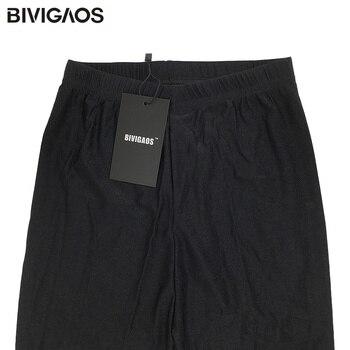 BIVIGAOS Womens Sexy Shiny Stretch Leggings Thin Ankle Pants Legins Slim Black Leggings Gothic Trousers For Women Clothing 10
