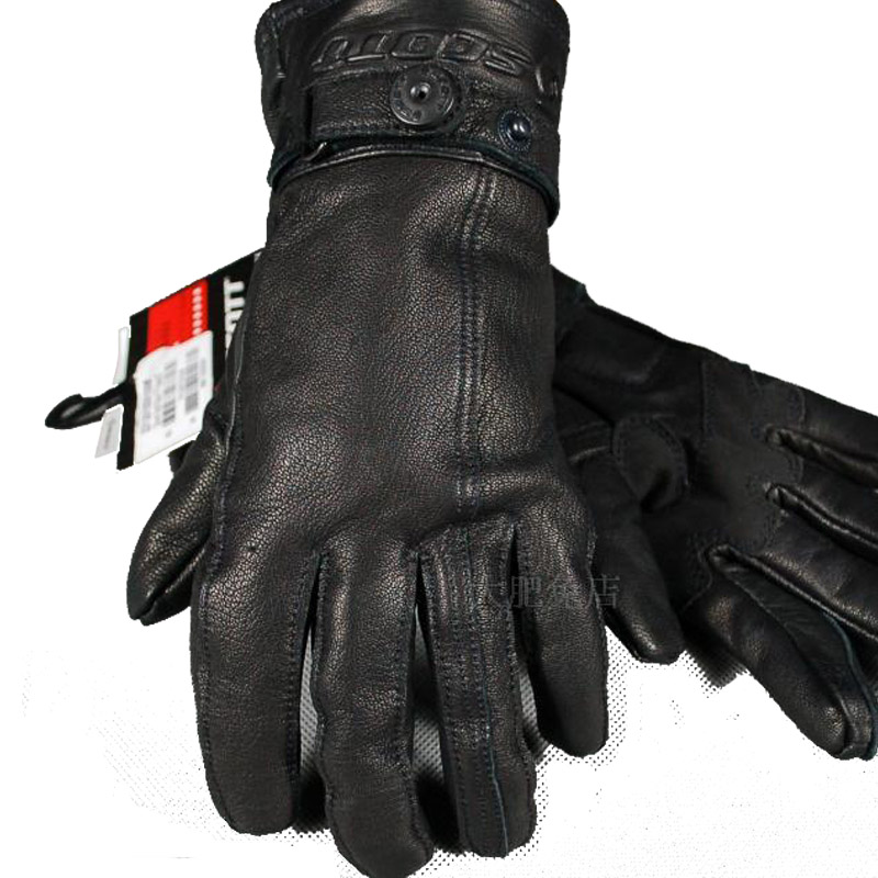2020 New windproof American goatskin leather motorcycle glove retro Motorbike riding gloves Wear-resistant BOW SUMMER GLOVES