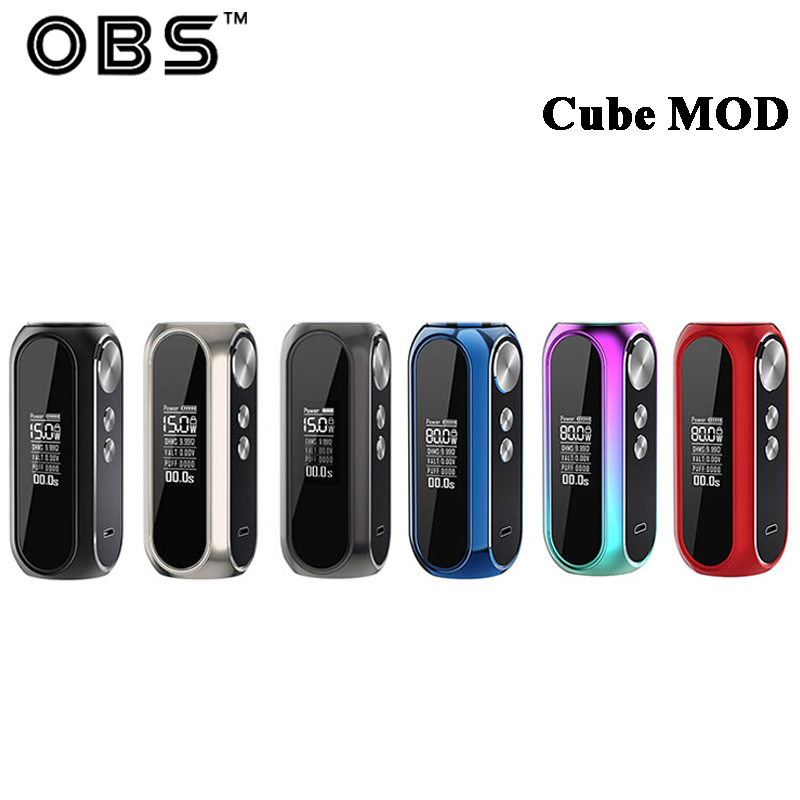 New Color Original OBS Cube MOD VW with 3000mah Battery Electronic Cigarette Vape Support OBS Cube