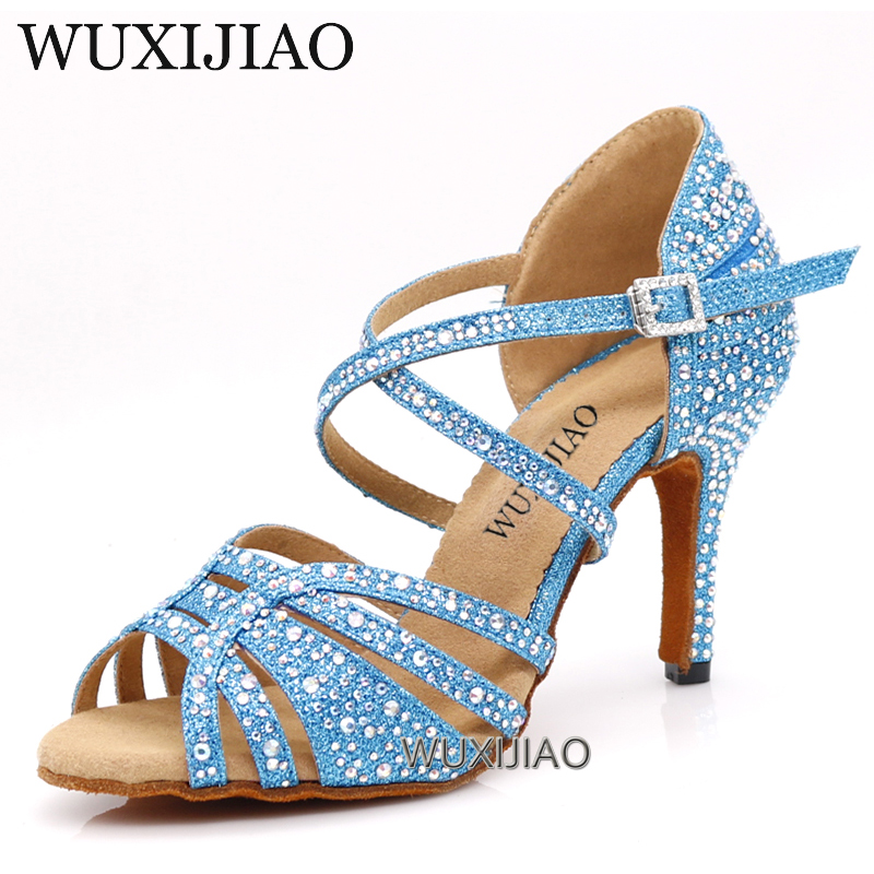WUXIJIAO Dance shoes girl dance hall Latin dance shoes women's shoes salsa shoes  women's shoes comfortable soft bottom 5-10CM(China)