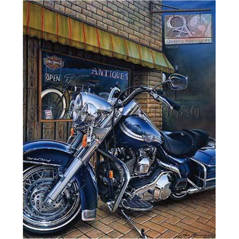 New Motorcycle Room Decor Embroidery Pattern Diamond 5d Diy Paintings Cross Sch Kits Mosaic Stickers Rs620 In Painting From Home