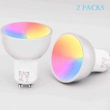 BOAZSmart GU10 light bulb, Alexa, Google Assistance Voice Control wifi lamp ,RGBW Color Changing smart wifi bulb 85-265V(2Pack) ботинки elong elong el025amczxv3