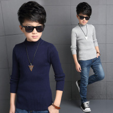Boys Sweaters Solid Turtleneck Bottoming Shirt Enfant Knitwear Vestido Infantil Child Autumn Knitted Clothes Casual Kid Clothing
