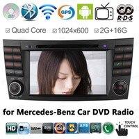 Android 4,4 4 ядра Автомобильный DVD Радио для Mercedes W211 E Class E280 W463 W219 поддержка gps BT 3g/Wi Fi