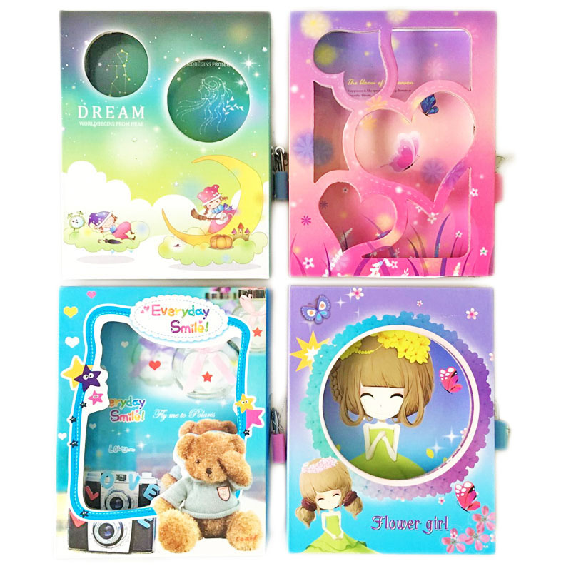 1pcs Cartoon Boxed Bear Notebook With Lcok Creative Kawaii Daily Memos 58 Sheets Notepad For Kids Great School Stationery