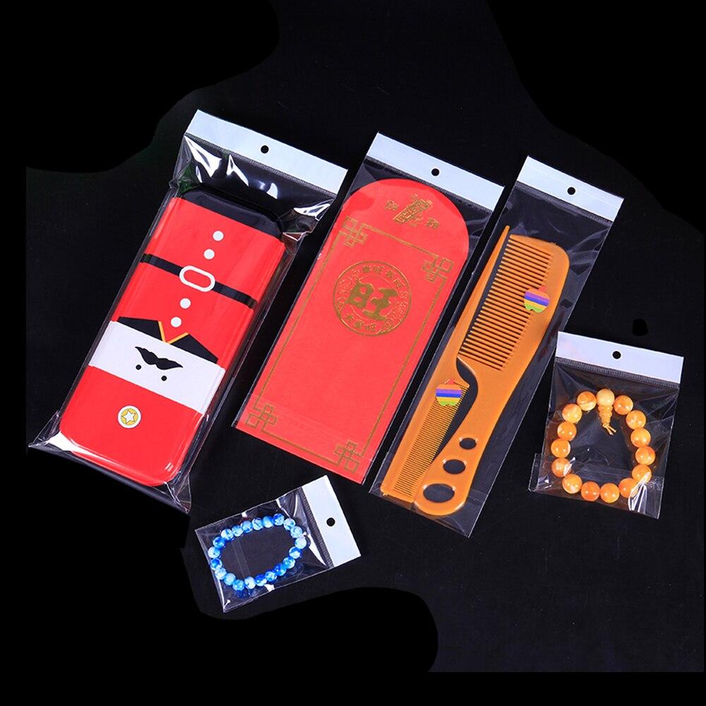6145 Cm Self Adhesive Batal Plastik Tas Hadiah Kemasan Bagus Kantong Sampah Xxl 100 X 120 5s Opp Polybag Menggantung Lubang Untuk Perhiasan Ornamen Cincin Anting