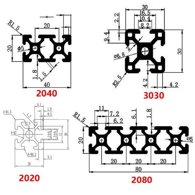 детали для 3d принтера с чпу алюминиевый профиль 2040 европейский фотография