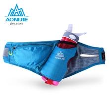 AONIJIE Sports Waist Packs Running Belt Water Belt Fanny Pack Marathon Hydration With Bottle 4 Colors