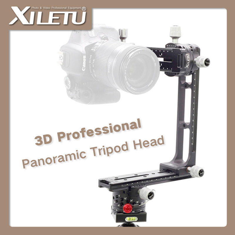 XILETU 720PRO-2 360 Degree High Coverage Panoramic Tripod Head With Extended QR Plate and Nodal Slide Rail For Digital Camera