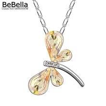BeBella ожерелье с подвеской в виде стрекозы из австрийских кристаллов Swarovski для женщин